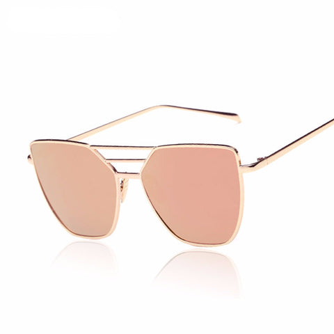 Flat Top Rose Gold Sunglasses - ResedaGear