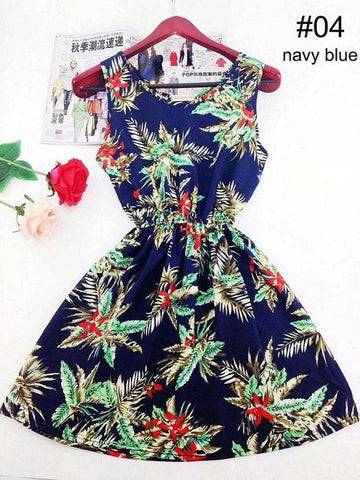 Bohemian Summer Floral Dress - ResedaGear