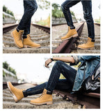 AUTUMN WINTER SUEDE LEATHER BOOTS - MEN'S WEAR Store