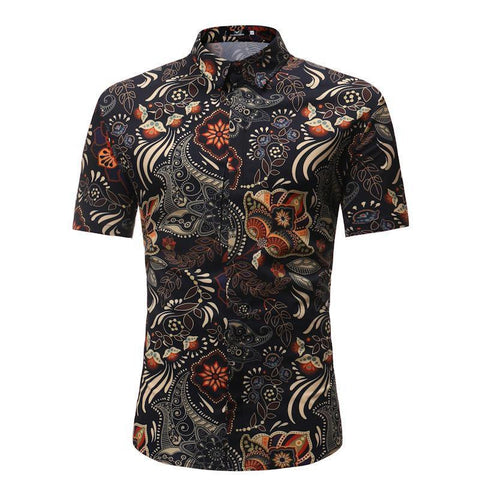 BEACH HAWAIIAN SUMMER SHIRT - MEN'S WEAR Store