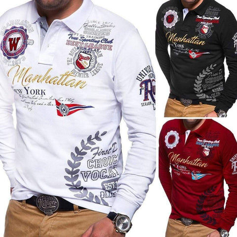 BRAND LETTER PRINTED POLO SHIRTS (Manhattan) - MEN'S WEAR Store