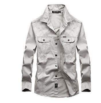 BRAND SHIRT WITH LONG SLEEVES - MEN'S WEAR Store