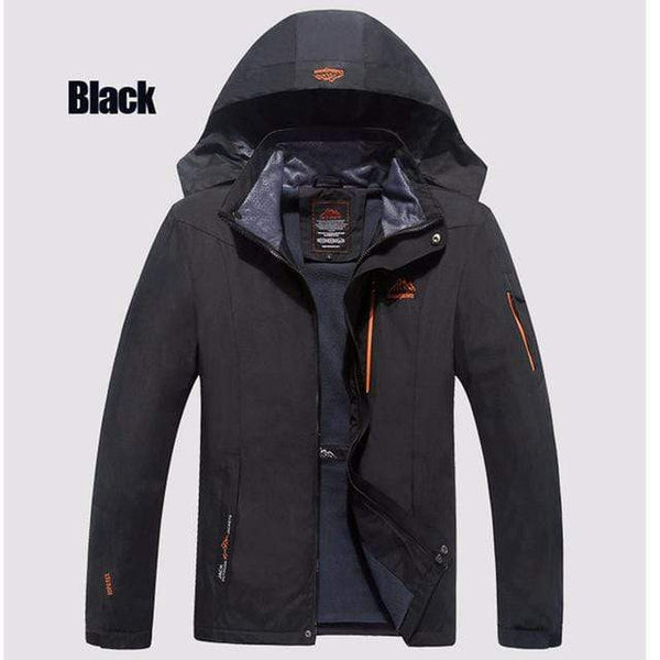 BRAND WINDPROOF WARM HOODED JACKET - MEN'S WEAR Store