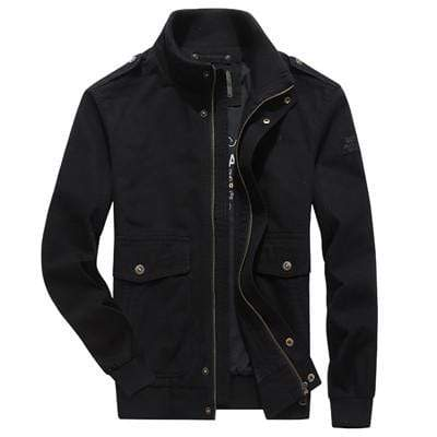 CASUAL COTTON STAND COLLAR WINDBREAKER JACKET - MEN'S WEAR Store
