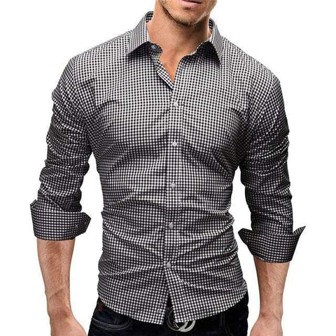 CASUAL PLAID SLIM FIT SHIRT - MEN'S WEAR Store