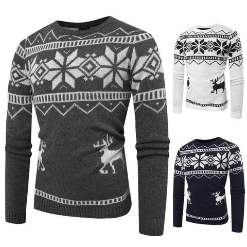 CHRISTMAS FAWN PRINTED PULLOVER - MEN'S WEAR Store