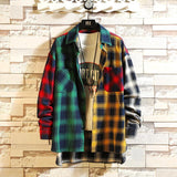 COLOR PATCHWORK PLAID SHIRT - MEN'S WEAR Store