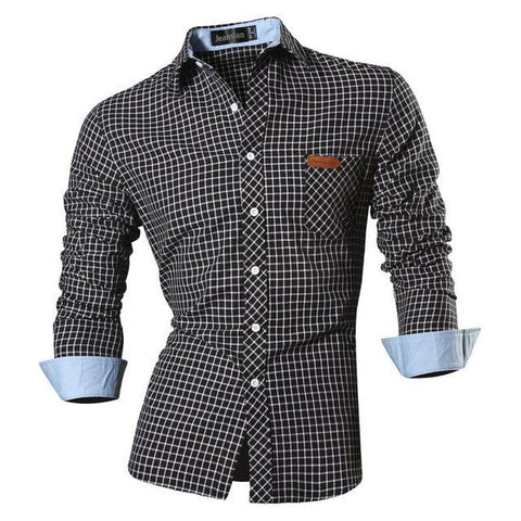 CONTEMPORARY CASUAL PLAID SHIRT - MEN'S WEAR Store