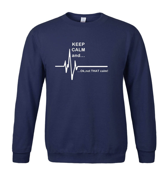 HEART RATE PRINT SWEATSHIRT - MEN'S WEAR Store