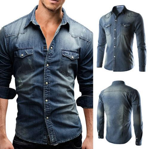 FASHION CASUAL DENIM SHIRTS - MEN'S WEAR Store