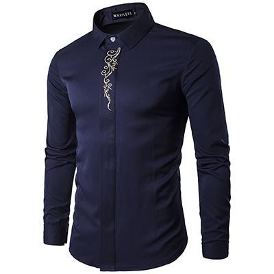 FASHION EMBROIDERY PATTERN SHIRT - MEN'S WEAR Store