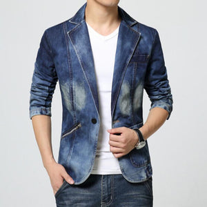 FASHIONABLE DENIM BLAZER - MEN'S WEAR Store