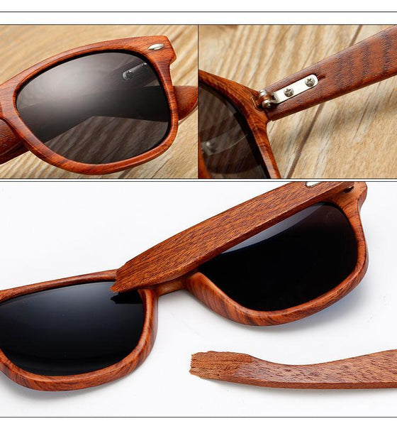 HANDMADE RETRO WOOD SUNGLASSES (out or with case) - MEN'S WEAR Store