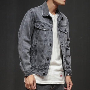 HIP HOP STYLE LOOSE DENIM JACKET - MEN'S WEAR Store