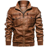 HOODED MILITARY MOTORCYCLE LEATHER JACKETS - MEN'S WEAR Store