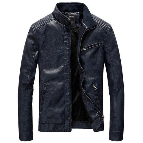 LEATHER URBAN STAND COLLAR JACKETS - MEN'S WEAR Store