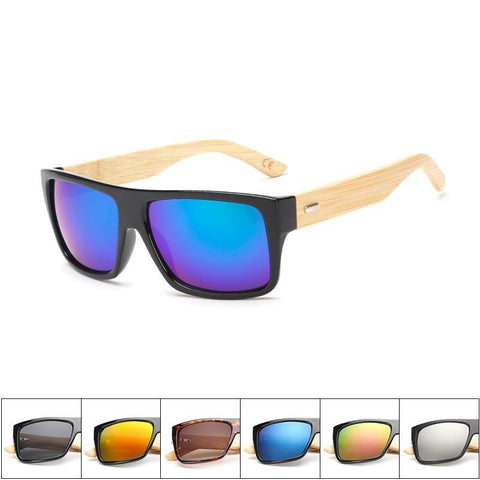 ORIGINAL WOODEN BAMBOO SUNGLASSES (with case) -  MEN'S WEAR Store