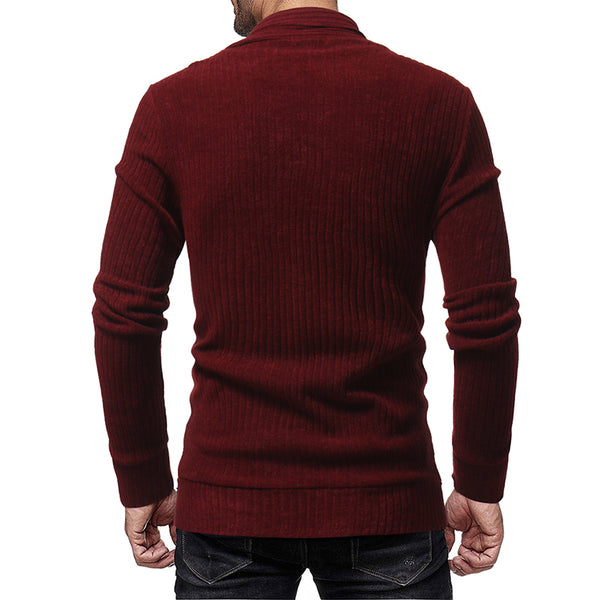 FASHION SOLID COLOR CASUAL CARDIGAN - MEN'S WEAR Store