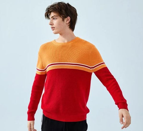 BRAND LUXURY COLOR KNITTED PULLOVER - MEN'S WEAR Store