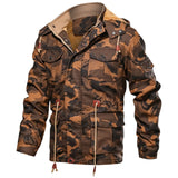 BRAND HOODED THICK FLEECE CAMOUFLAGE JACKET - MEN'S WEAR Store