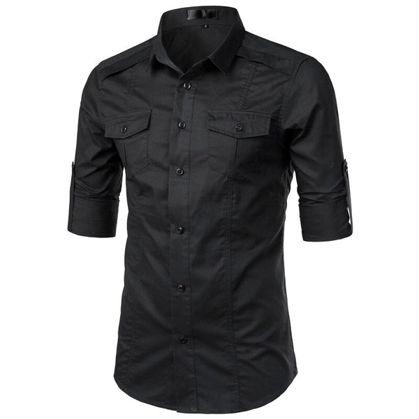 TACTICAL TWILL WORK SHIRTS WITH POCKETS - MEN'S WEAR Store