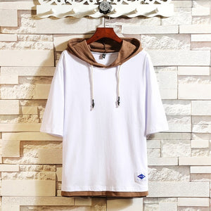 SUMMER SHORT SLEEVES BRAND WITH HOODED T-SHIRT - MEN'S WEAR Store