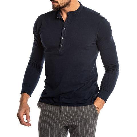 FASHION SOLID COLOR LONG SLEEVE T-SHIRTS - MEN'S WEAR Store