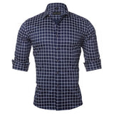 CASUAL SLIM FIT PLAID COTTON SHIRT - MEN'S WEAR Store