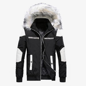 FUR HOODED THICK WARM PARKA - MEN'S WEAR Store