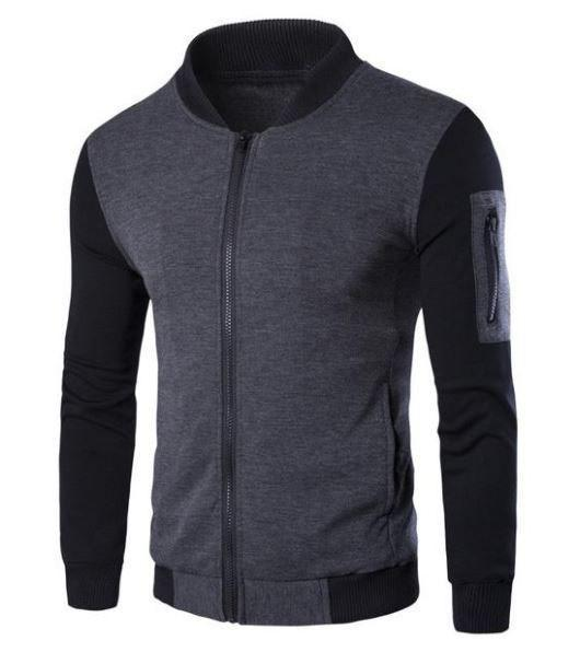 Sweatshirt With Leather Sleeves - MEN'S WEAR Store