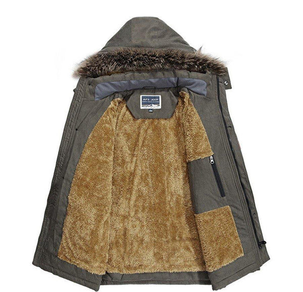WINTER WINDPROOF HOOD PARKA - MEN'S WEAR Store