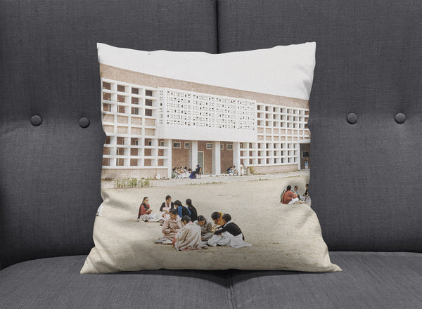 Chandigarh India Modern Cushion by aaart - art inspired decorative throw pillows