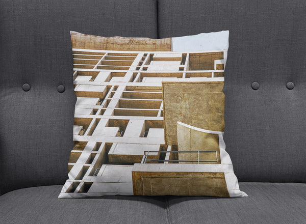 Chandigarh Throw Pillow by aaart - art inspired decorative throw pillows