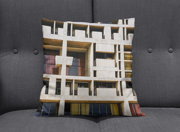 Chandigarh Indian Inspiration Cushion by aaart - art inspired decorative throw pillows