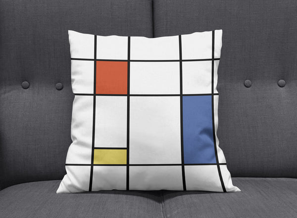 Piet - Modern Bauhaus Cushion by aaart - art inspired decorative throw pillows
