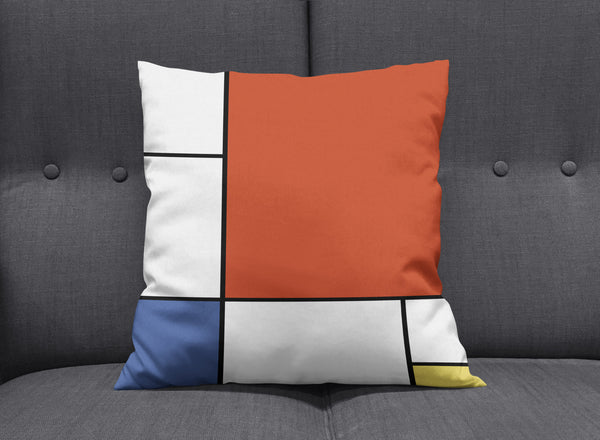 Piet - Modern Bauhaus Cushion Pillow by aaart - art inspired decorative throw pillows