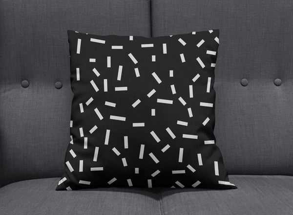 Memphis Black Bug Cushion by aaart - art inspired decorative throw pillows