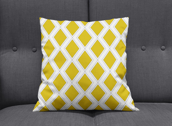 Art Deco Gold & White Cushion
