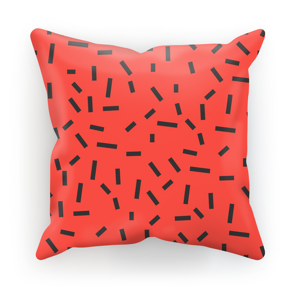 Memphis Red Bug Cushion by aaart - art inspired decorative throw pillows
