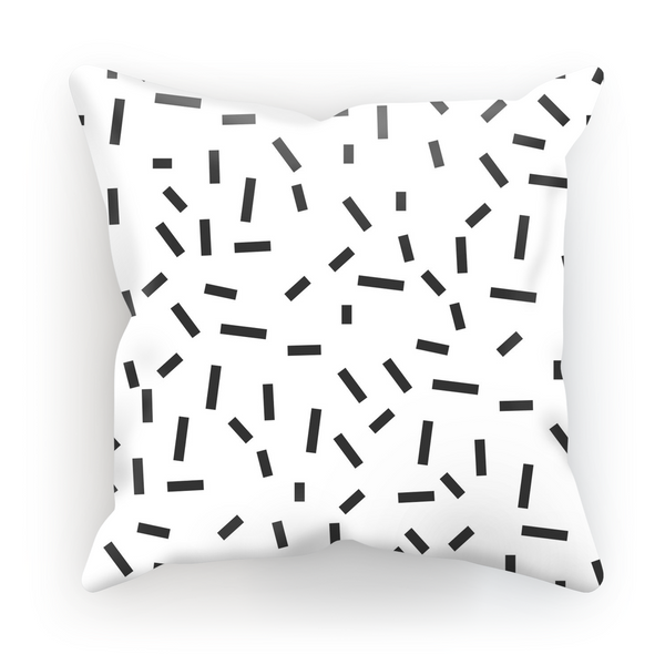 Memphis Bug White Cushion by aaart - art inspired decorative throw pillows