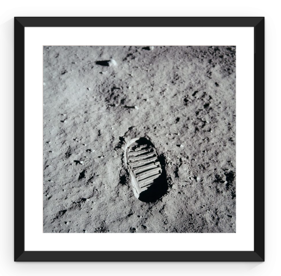 Apollo 11 Footprint - Framed Print