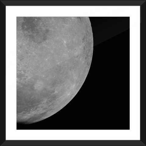 The Moon as Seen from Apollo 11 - Framed Print