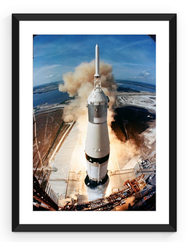 Framed Print of Saturn V Rocket Launch for Apollo 11 Mission - omgspaceisawesome.com
