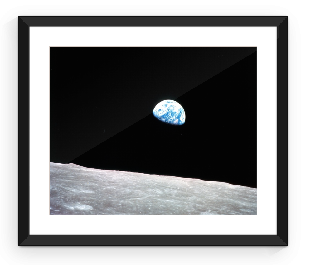 Earth Rise - Framed Print