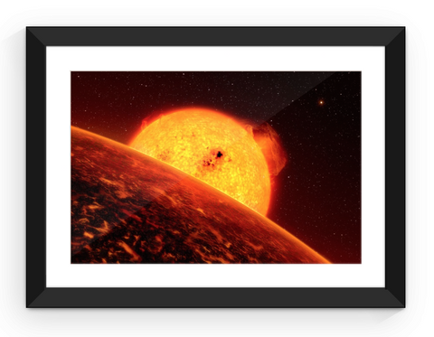 Fiery Sunrise - Framed Print