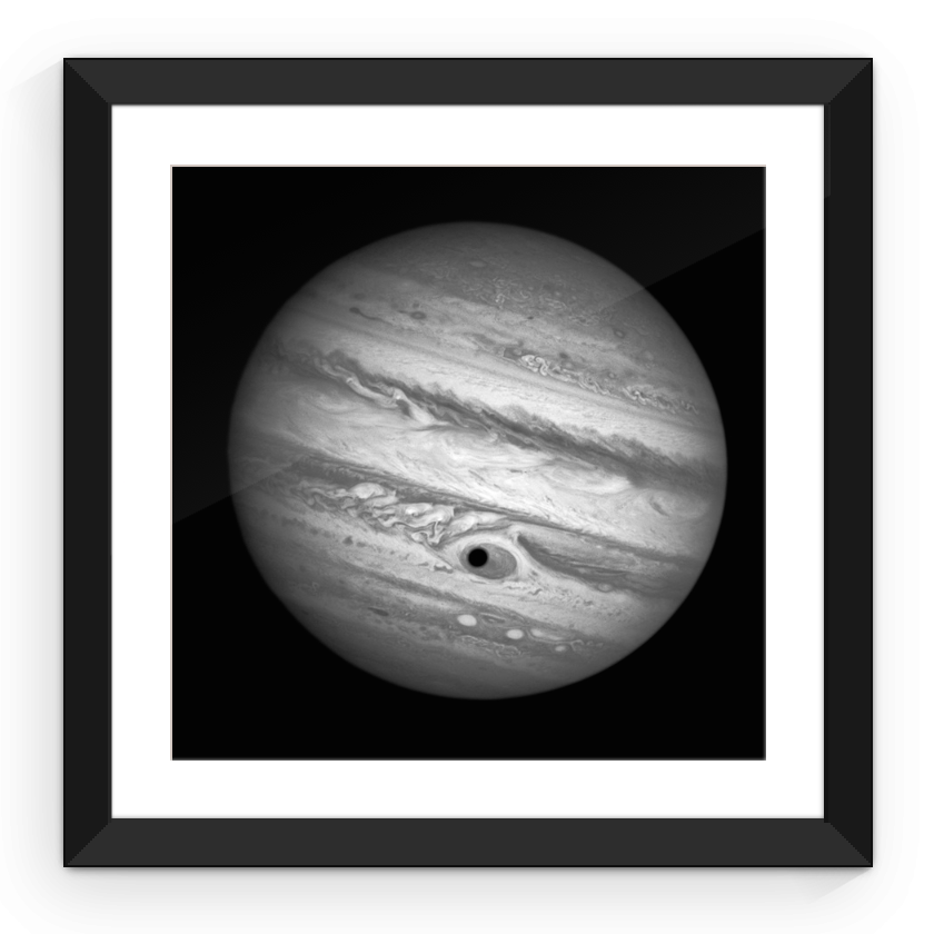 Jupiter As Seen From Hubble - Framed Print