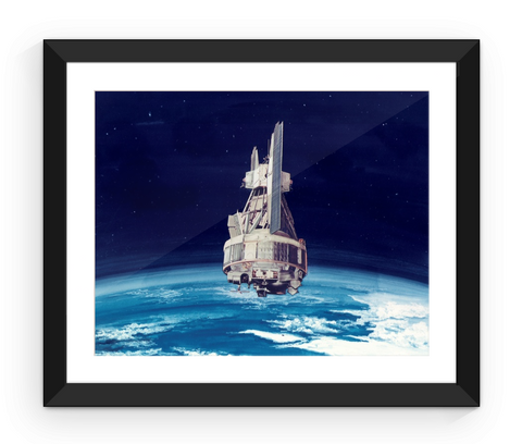 Nimbus-1 Earth Observation Satellite - Framed Print