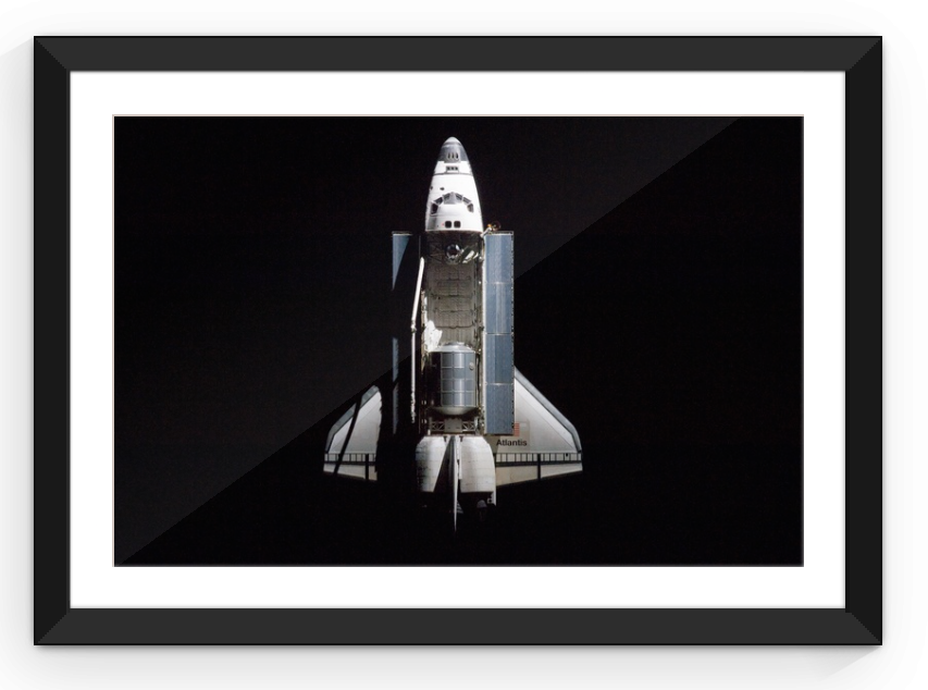 Space Shuttle Cargo Bay - Framed Print
