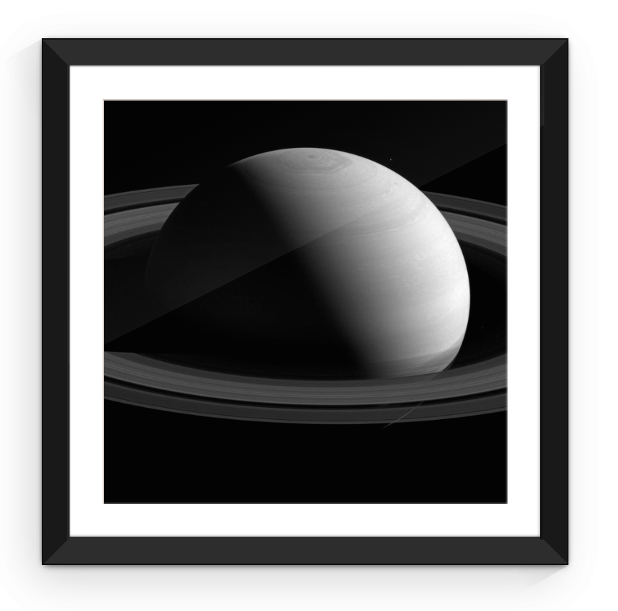 Saturn and Her Rings - Framed Print