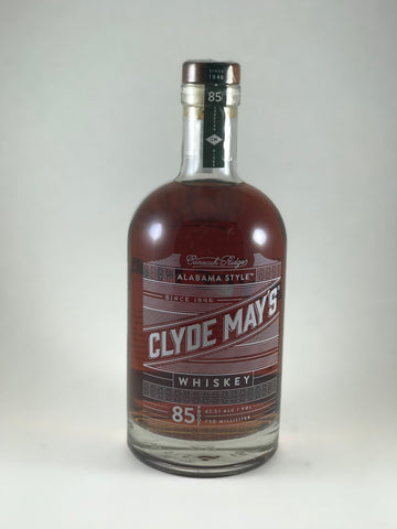Clyde May's whiskey 85proof Alabama